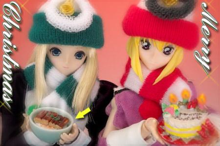 私たちのクリスマスケーキをどうぞ〜♪